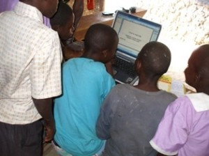 Donated computers were loaded with educational software before being given to the orphanage.